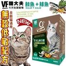 📣此商品48小時內快速出貨🚀》美國VF魏大夫》無榖低敏配方貓糧(鮭魚+鯡魚)-1.5kg/3.3lb