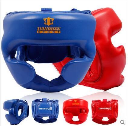 設計師美術精品館天權成人兒童護臉拳擊頭盔散打頭盔猴臉搏擊跆拳道護頭護具
