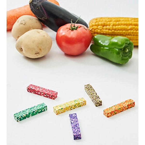 【日本製】【AOZORA】彩色圓點蠟筆 蔬果款(一組:10個) SD-13625-10 - AOZORA