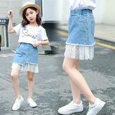 女童短裙 兒童裝女童牛仔短裙2020新款洋氣夏裝中大童夏季小女孩百搭半身裙