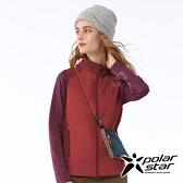 PolarStar 女 異材質鋪棉背心『紅』P20212 戶外.休閒.旅行.保暖.禦寒.防風.出國旅遊