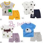 夏季童裝 短袖短套裝 男女童 純棉T恤 半袖運動 兩件套 Be Fashion