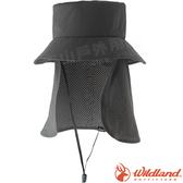 Wildland 荒野 W1039-64深卡灰 中性抗UV多功能遮陽帽 防曬工作帽/登山休閒帽/漁夫帽/大圓遮陽帽*