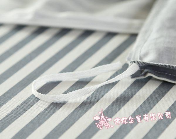 雙人床包 卡洛斯 標準雙人 5尺 ikea風格 不起毛球 灰色 床包四件組 精梳棉 條紋 床單 佛你企業
