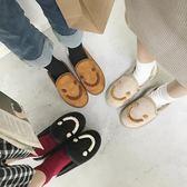 原宿面包鞋女冬季韓版百搭學生可愛加絨一腳蹬低筒雪地靴懶人棉鞋 歌莉婭