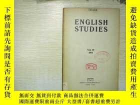 二手書博民逛書店ENGLISH罕見STUDIES 1954 35Y180897