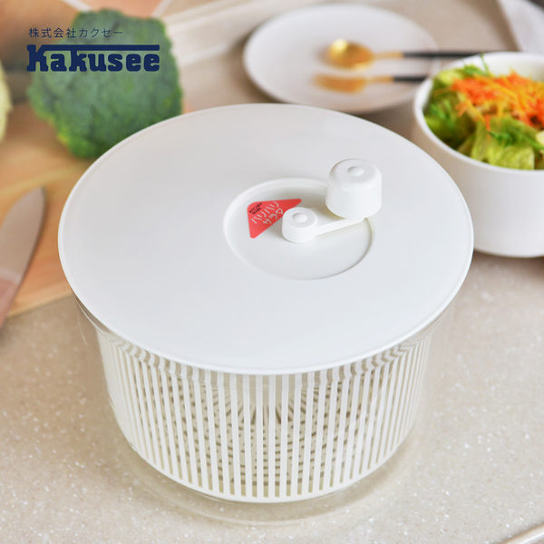 【日本Kakusee料理道具】蔬果生菜脫水籃-M