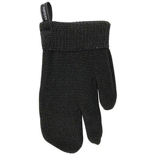 小禮堂 日製 去污手套 尼龍 菜瓜布 抹布 清潔刷 家事手套 清潔手套 (1入 黑) 4522021-04231