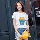★韓美姬★中大尺碼~趣味印花短袖T恤上衣(XL~5XL)