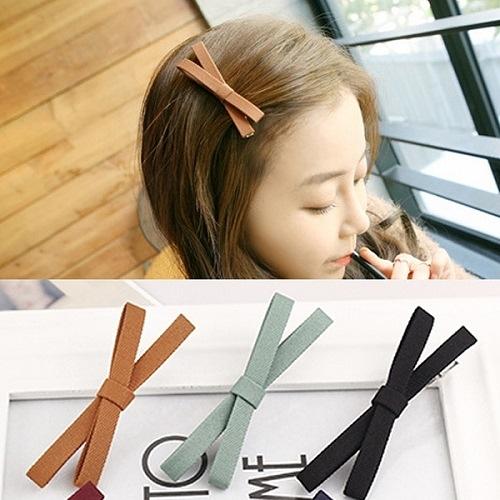【NiNi Me】韓系髮飾 氣質甜美蝴蝶結髮夾鴨嘴夾 髮夾 H9315