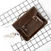 筆電包英倫商務電腦包15.6寸雙肩包女筆記本14寸韓版學生單肩包BL 全館八折柜惠