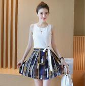 雪紡套裝裙時尚顯瘦連衣裙兩件套女裝裙子  ✎﹏₯㎕ 米蘭shoe 621-015