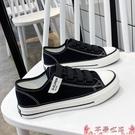 帆布鞋2021年夏季薄款新款魔術貼帆布鞋女鞋子春秋爆款百搭板鞋黑色布鞋 芊墨 618大促