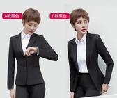小西裝西服女上衣面試工作服套裝工裝職業黑西裝外套女夏薄款正裝