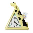 黃色款【日本進口正版】長頸鹿 造型時鐘 指針時鐘 可伸縮長度 可掛物品 - 381079