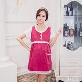 金屬防輻射服新款防輻射花邊連身裙孕婦裝CC5307『麗人雅苑』