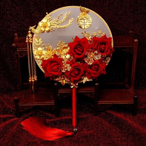 中式新娘手捧花