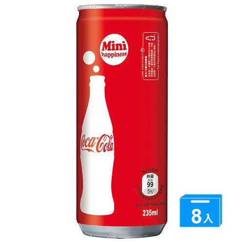 可口可樂迷你罐(冰箱好拿包)235ml*8入【愛買】
