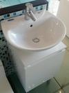 【麗室衛浴】日本INAX GL-285VFC-TW  抗污抗菌盆+鋼烤防水發泡板浴櫃 組合優惠中