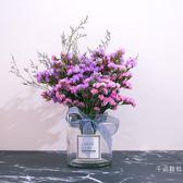 仿真花 乾花 帶花瓶天然北歐真勿忘我干花花束家居擺設客廳干枝混合式 年貨慶典 限時八折