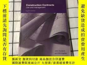 二手書博民逛書店Construction罕見Contracts: Law and Management (Fourth Editi