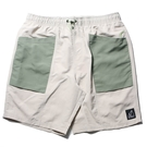 NEW BALANCE 短褲 NB 尼龍 抽繩短褲 淺卡其 綠 男 (布魯克林) MS11580TWF