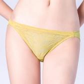 思薇爾-輕戀香系列M-XL蕾絲低腰三角內褲(楊桃綠)