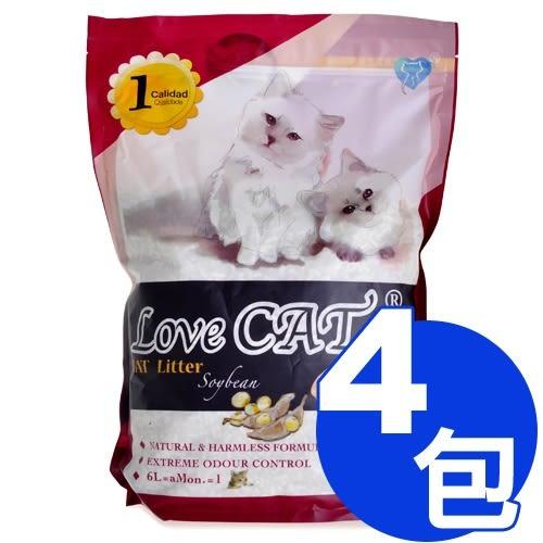 【寵物王國】新寵愛-環保豆腐砂貓砂6L系列 x4包免運超值組(玉米、豆腐、綠茶、咖啡香可選)