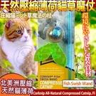 【培菓平價寵物網】美國CosmicCatnip宇宙貓 》100%全天然壓縮薄荷貓草玩具魔杖-沙沙魚