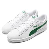 Puma 休閒鞋 Smash V2 L 男鞋 女鞋 白 綠 基本款 皮革 運動鞋 【ACS】 36521503