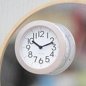 個性簡約現代浴室鐘靜音家用廚房鐘錶時尚吸盤創意迷你小掛鐘  wy 年貨慶典 限時鉅惠