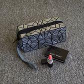 化妝包化妝包小號便攜時尚簡約專柜贈品明星同款化妝袋韓國不規則幾何包麥吉良品