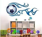 壁貼【橘果設計】足球 DIY組合壁貼 牆貼 壁紙室內設計 裝潢 壁貼