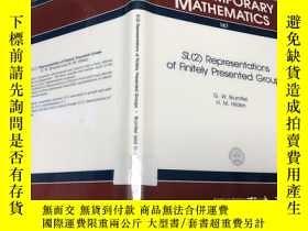 二手書博民逛書店Sl(2)罕見Representations of Finitely Presented GroupsY171