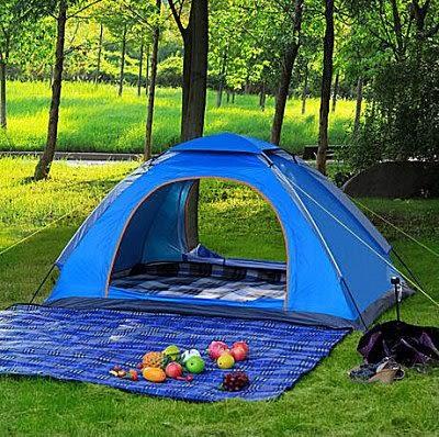 戶外露營帳篷 野外 休閑透氣防雨防曬沙灘帳篷【藍星居家】