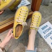 新品娃娃鞋水晶果凍底系帶單鞋潮娃娃鞋女韓版仙女鞋圓頭鞋子女學生百搭森系 芊墨左岸