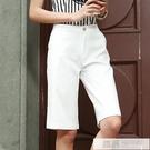 西裝褲女ins超火寬鬆港味直筒顯瘦百搭褲薄高腰修身五分闊腿短褲 女神購物節