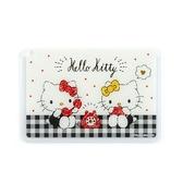 〔小禮堂﹞Hello Kitty 日製方形塑膠票卡夾《黑白.講電話》證件夾.車票夾.卡套 4901610-14939