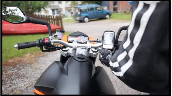 iphone6 plus garmin note5 gps vespa pgo GTS300 gts 300 BON防水殼皮套手機架機車導航支架摩托車導航架