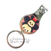 〔小禮堂〕迪士尼 Tsum Tsum 米奇米妮 指甲剪《小.紅.大臉.附鑰匙圈》方便隨身攜帶 8039032-20010