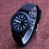 手錶 小男孩防水帆布手錶韓國版石英中兒童錶小學生數字腕錶男童潮腕錶全館免運