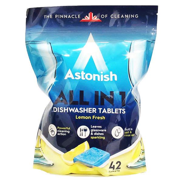 英國 Astonish 洗碗機專用 全效洗碗錠 檸檬清香款 42錠入