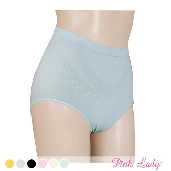蠶絲褲底莫代爾無縫內褲 柔軟包覆 提臀中高腰內褲503-Pink Lady