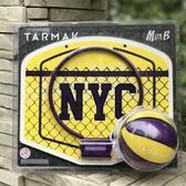 迪卡儂運動兒童室內玩具迷你紫紅色多彩懸掛粘貼籃板籃框小籃球