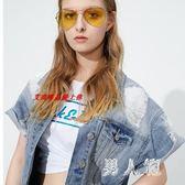2019女裝夏款韓版休閒寬鬆短袖馬甲牛仔外套 JH2058『男人範』
