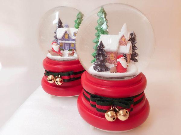 聖誕老人 音樂盒 水晶球 交換禮物 送禮