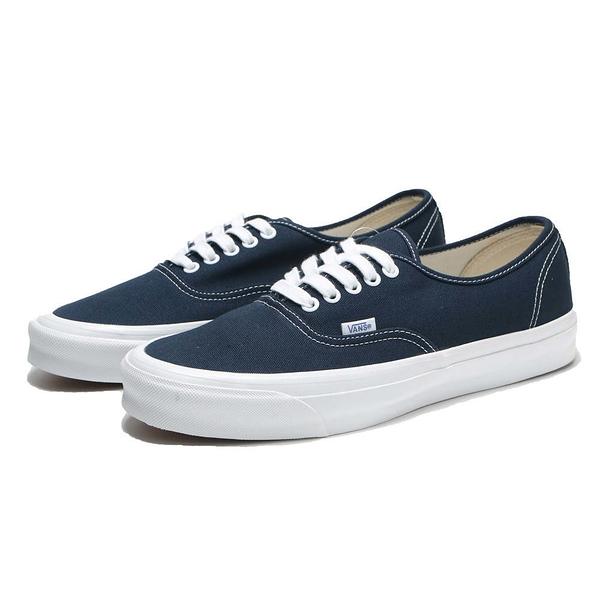 VANS 休閒鞋 板鞋 VAULT OG AUTHENTIC LX 海軍藍 帆布 經典款 男 (布魯克林) VN0A4BV91X7