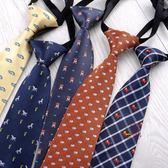 日系短款小領帶學生配飾時尚女jk襯衣卡通圖案兒童領帶免打結