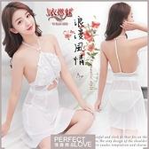 性感睡衣 女性商品 推薦 內睡衣《Yiran Mei》浪漫風情!削肩刺繡蕾絲可調背帶性感睡衣