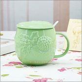 景德鎮陶瓷器瓷浮雕馬克杯